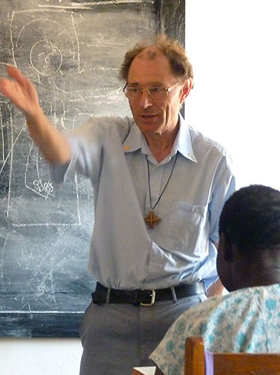 Trevor teaching in Juba